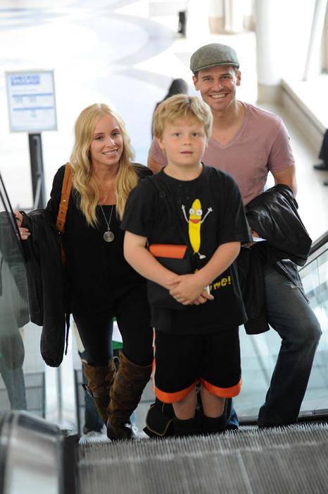 Дэвид Бореназ с семьей