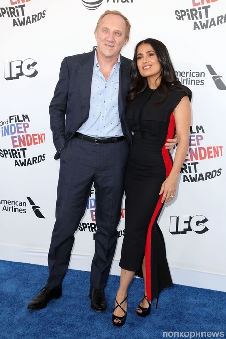 Сальма Хайек с супругом Франсуа Анри-Пино