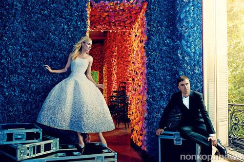 Дайан Крюгер и креативный директор Dior Раф Симонс