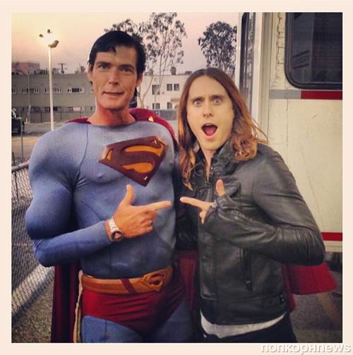Джаред Лето повстречался с Суперменом на съемках нового клипа