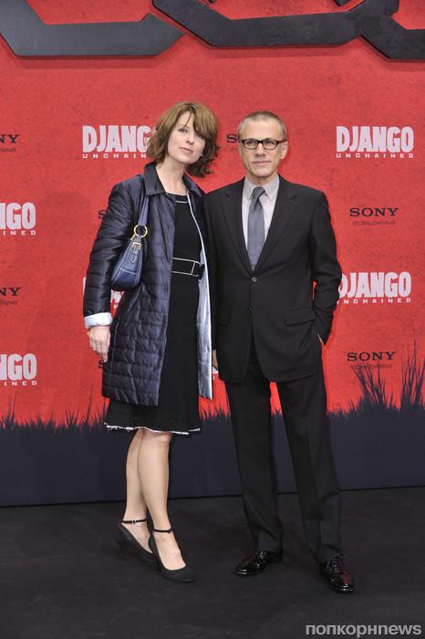Кристоф Вальц с женой