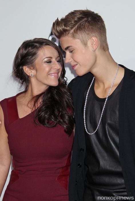 Джастин Бибер с мамой