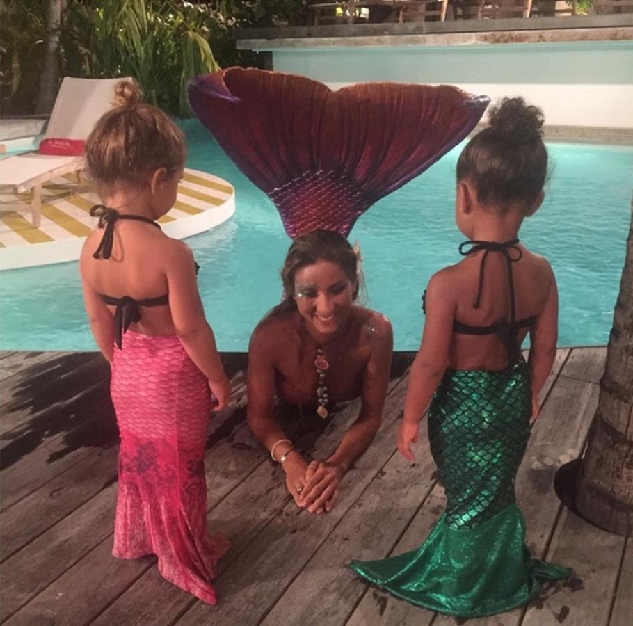 Дочь Ким Кардашьян превратилась в русалку