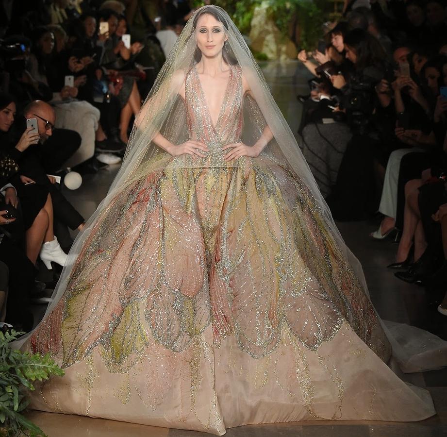 Модный показ новой коллекции ELIE SAAB Couture. Весна / лето 2015