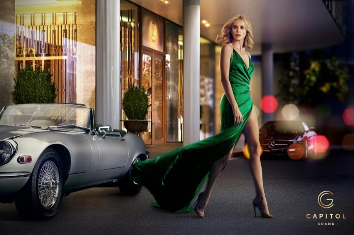 Шарлиз Терон в рекламной кампании отеля Capitol Grand