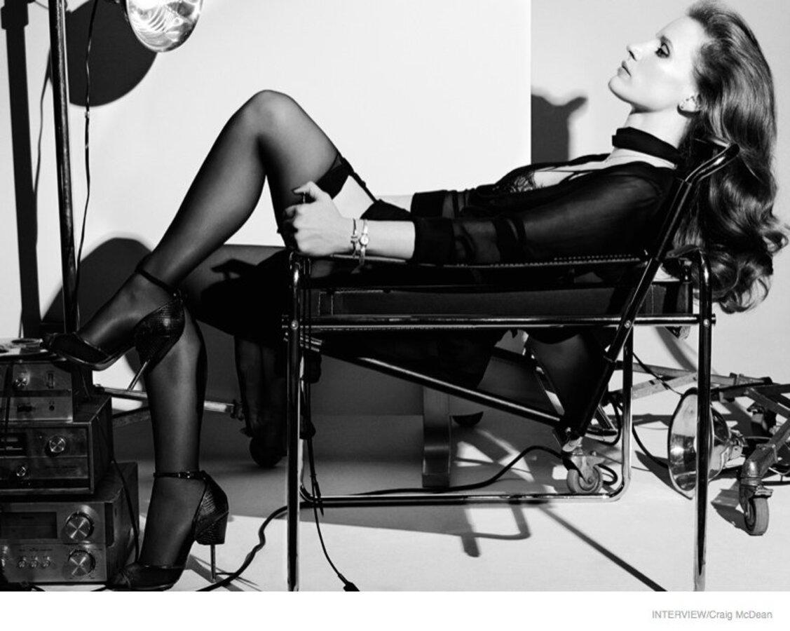 Джессика Честейн в журнале Interview. Октябрь 2014