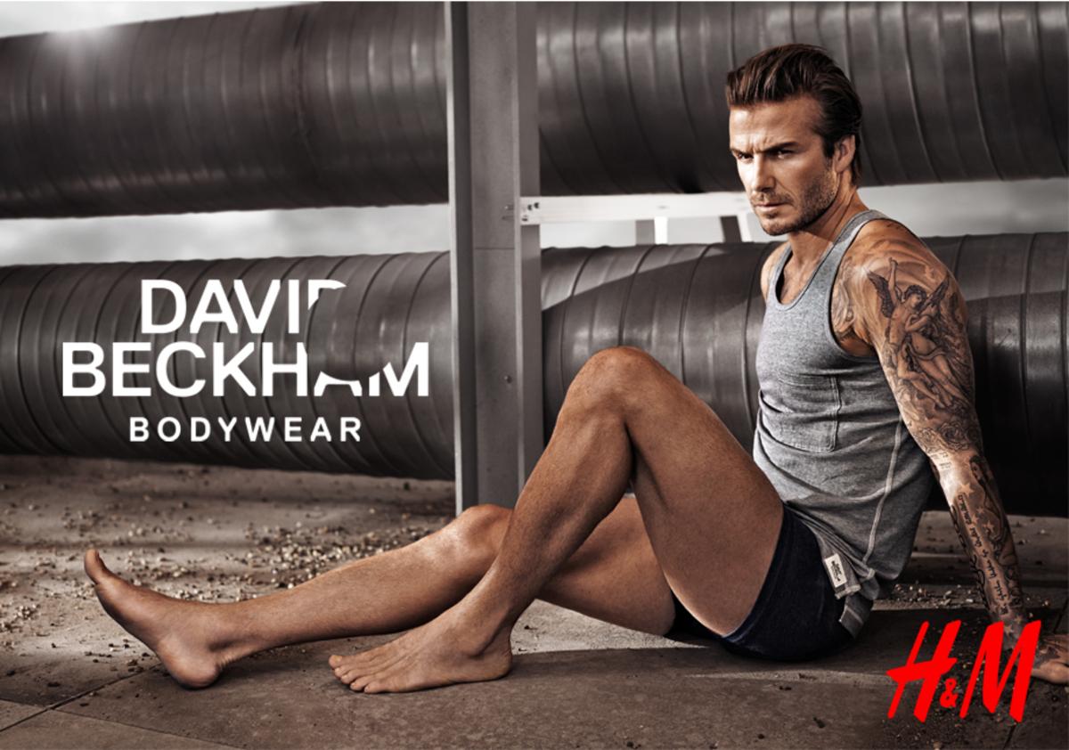 Дэвид Бекхэм в рекламной кампании H&M для Суперкубка