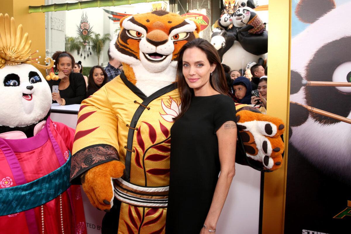 Анджелина Джоли, Кейт Хадсон и другие звезды на премьере «Кунг-фу Панда 3»