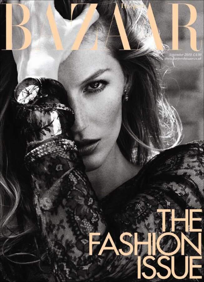 Жизель Бундхен в журнале Harper's Bazaar UK. Сентябрь 2010