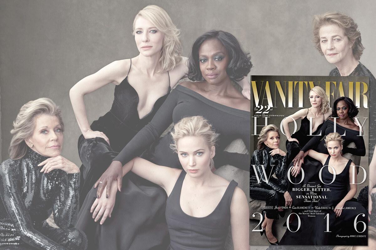 Фото: Дженнифер Лоуренс и другие звезды в «голливудском» спецвыпуске Vanity Fair