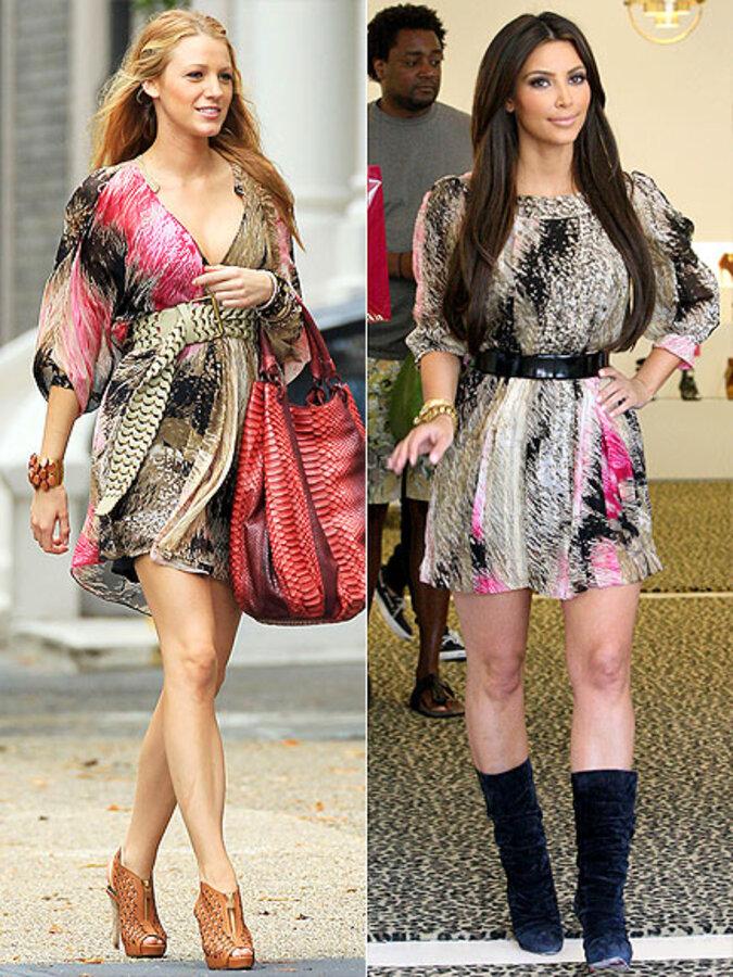 Fashion battle: Блэйк Лайвли и Ким Кардашиан