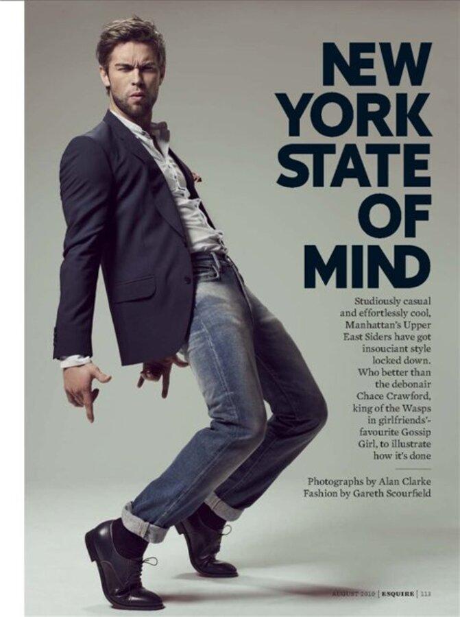 Чейс Кроуфорд в журнале Esquire UK. Август 2010