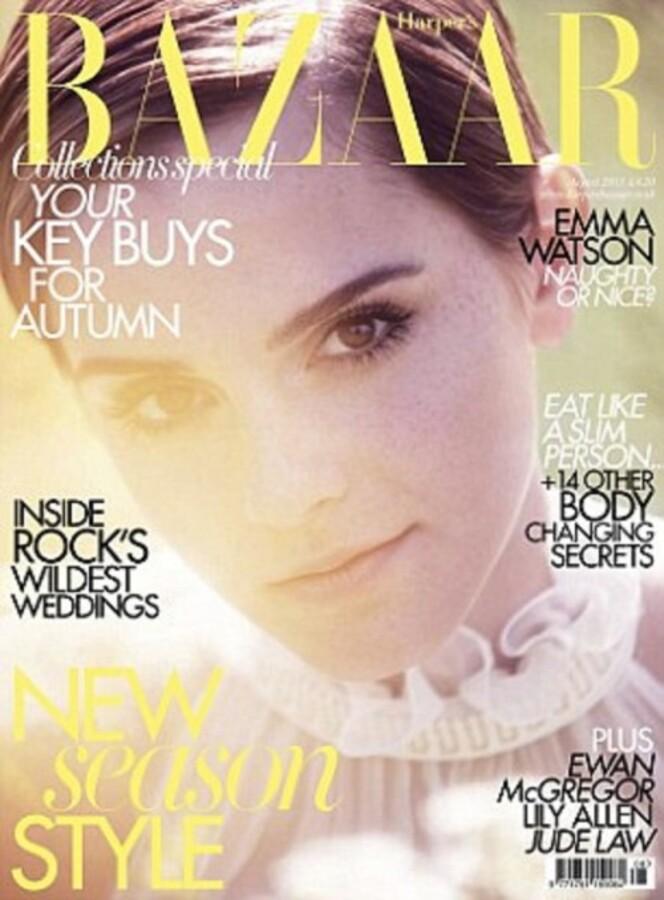 Эмма Уотсон в журнале Harper's Bazaar UK. Август 2011