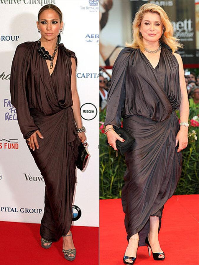 Fashion battle: Дженнифер Лопес и Катрин Денев