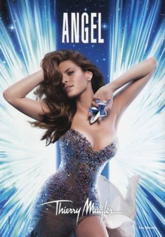 Первый взгляд на Еву Мендес в рекламе туалетной воды  Angel от Thierry Mugler