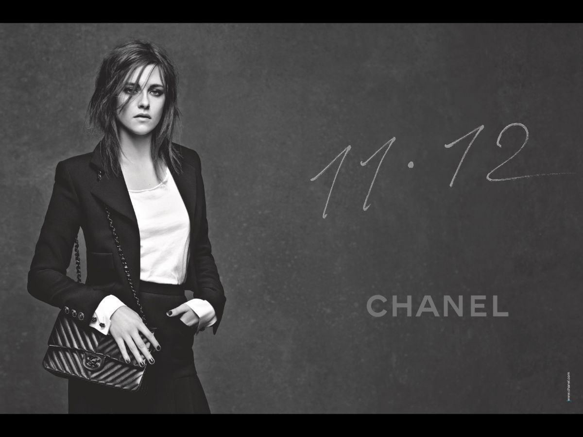 Кристен Стюарт в рекламе легендарной сумки Chanel 11.12: первый взгляд