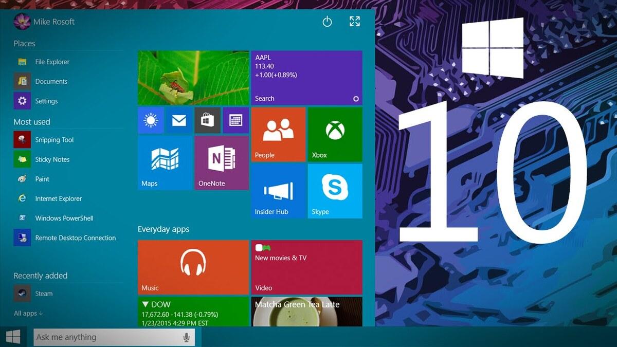 За месяц Windows 10 установили на 75 млн устройств