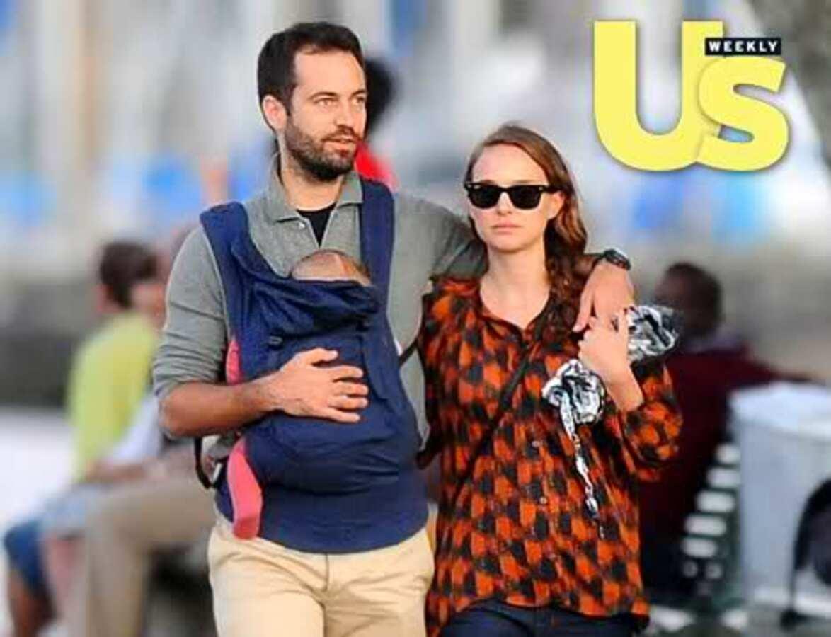 Натали Портман с сыном и женихом в Женеве