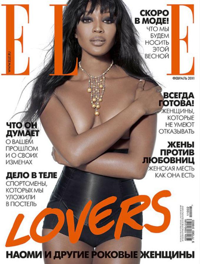 Наоми Кэмпбелл в журнале Elle. Россия. Февраль 2011