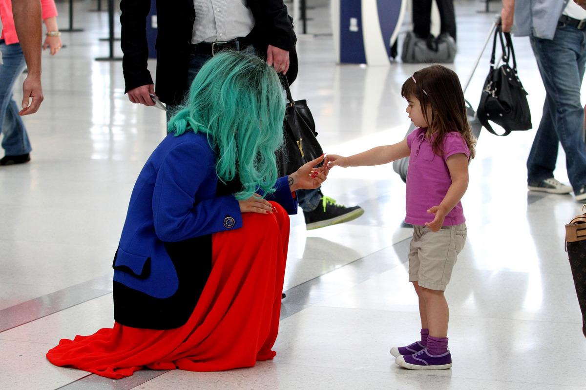 Юная поклонница Lady Gaga