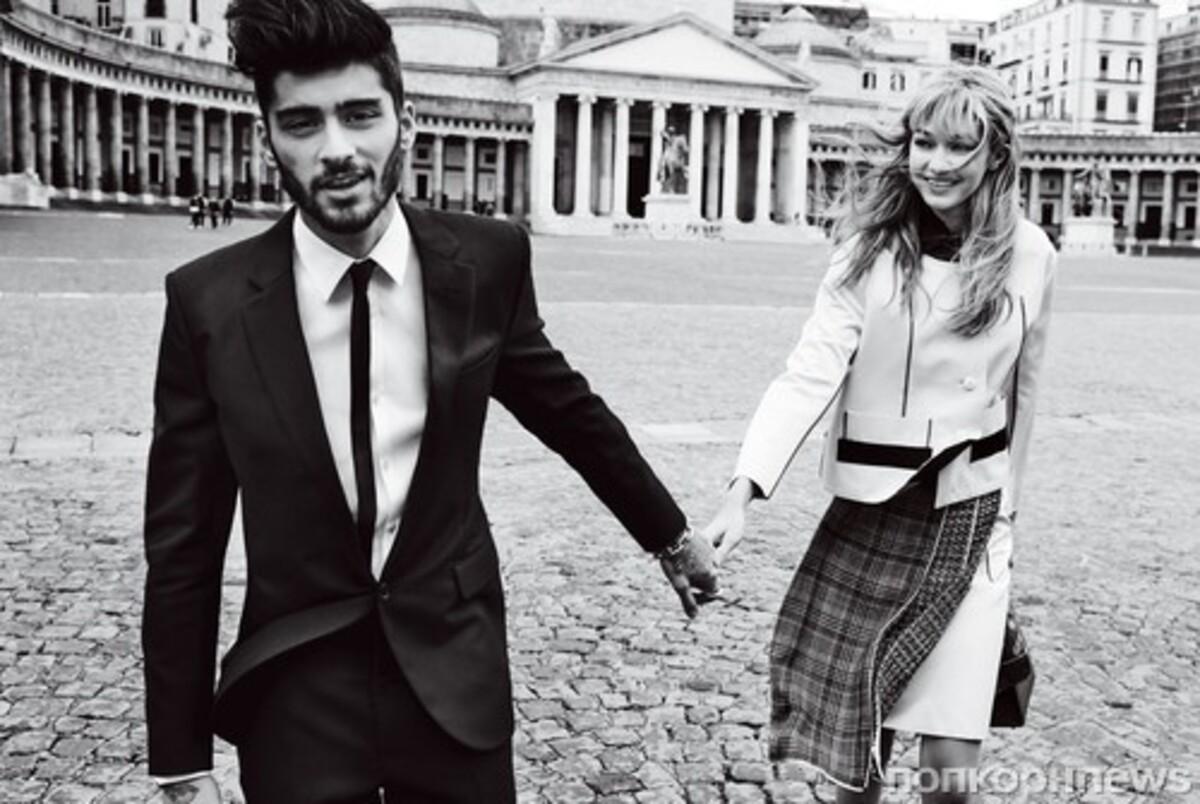 Джиджи Хадид и Зейн Малик в новом видео со съемок фотосета для Vogue