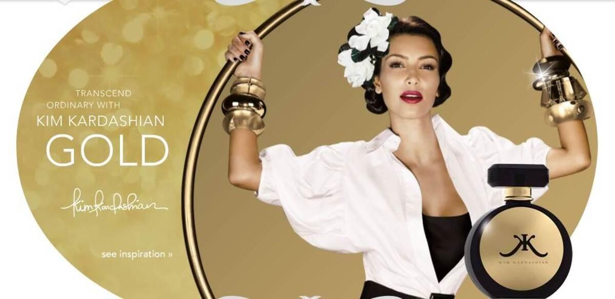 Ким Кардашиан выпускает второй аромат Kim Kardashian Gold
