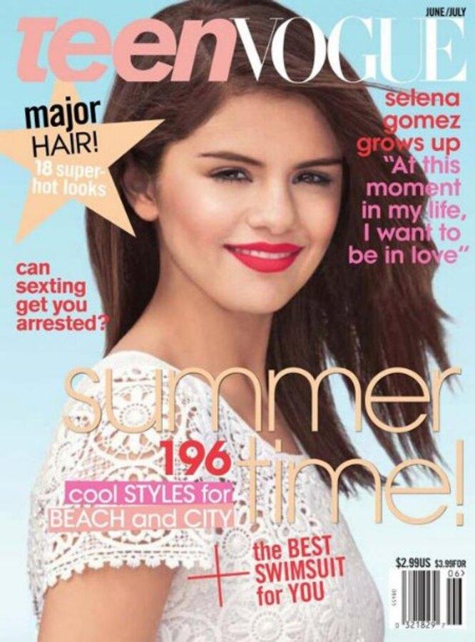 Селина Гомес в журнале Teen Vogue. Июнь/Июль 2011