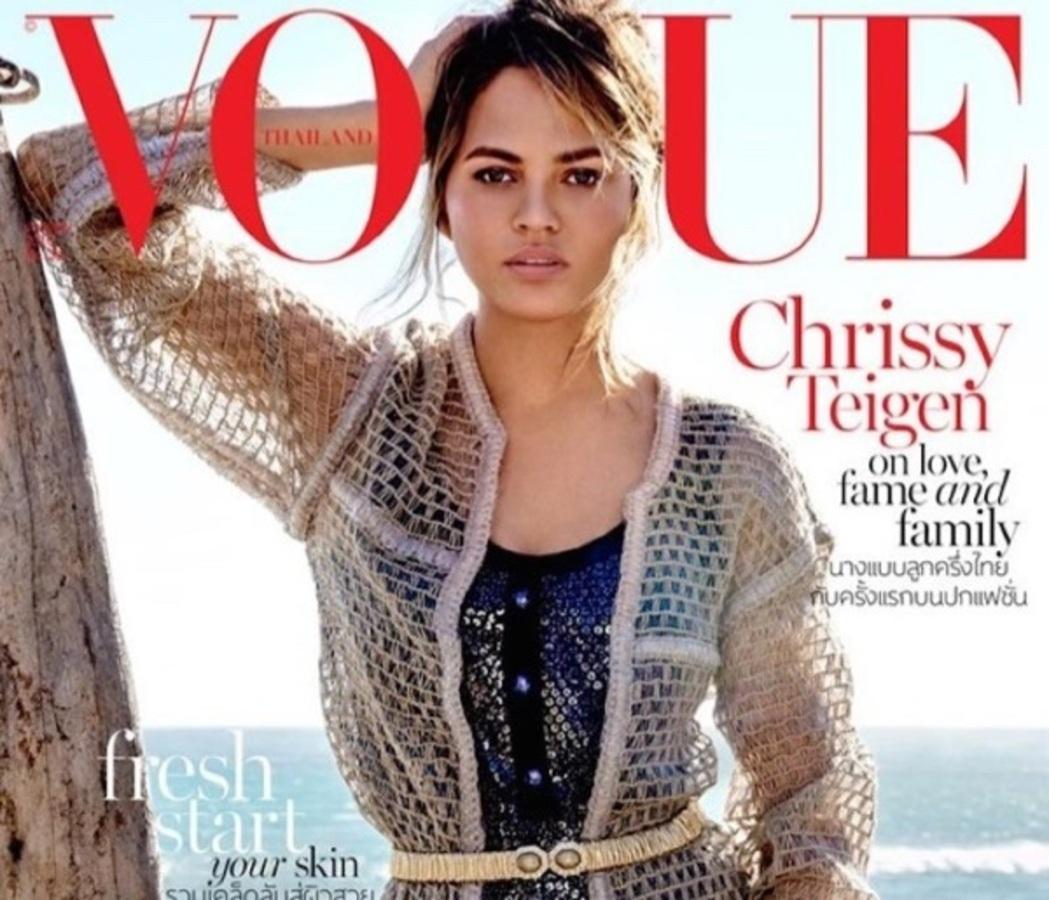 Крисси Тейген в фотосессии для Vogue Thailand, январь 2016