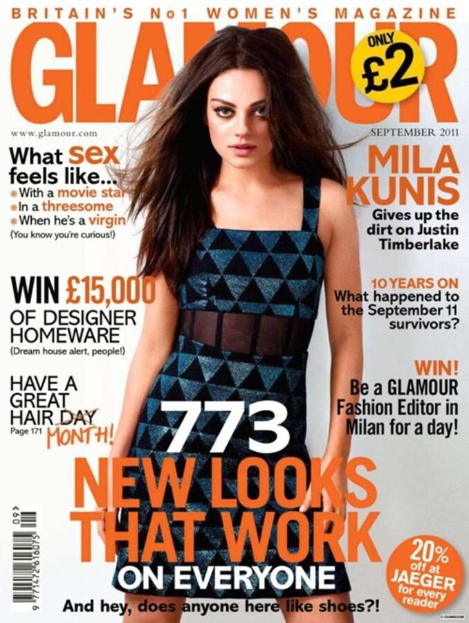 Мила Кунис в журнале Glamour UK. Сентябрь 2011