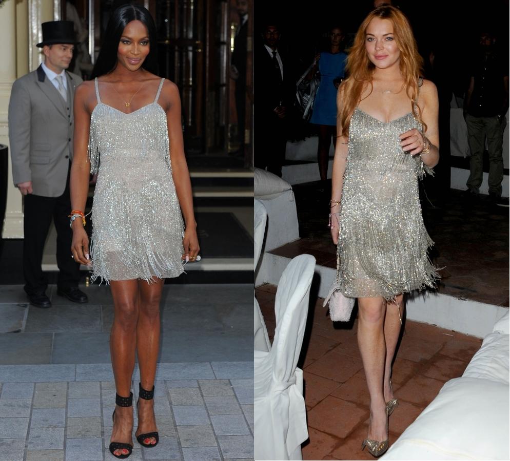 Fashion battle: Наоми Кэмпбелл и Линдси Лохан