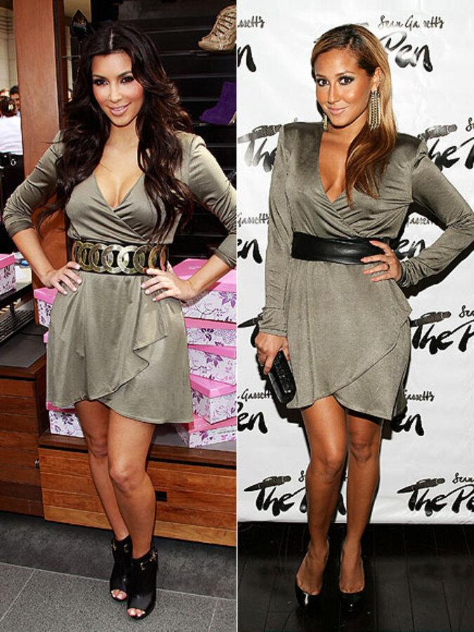Fashion Battle: Ким Кардашиан и Эдриенн Бэйлон