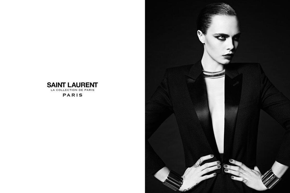 Кара Делевинь снялась в новой рекламной кампании Saint Laurent