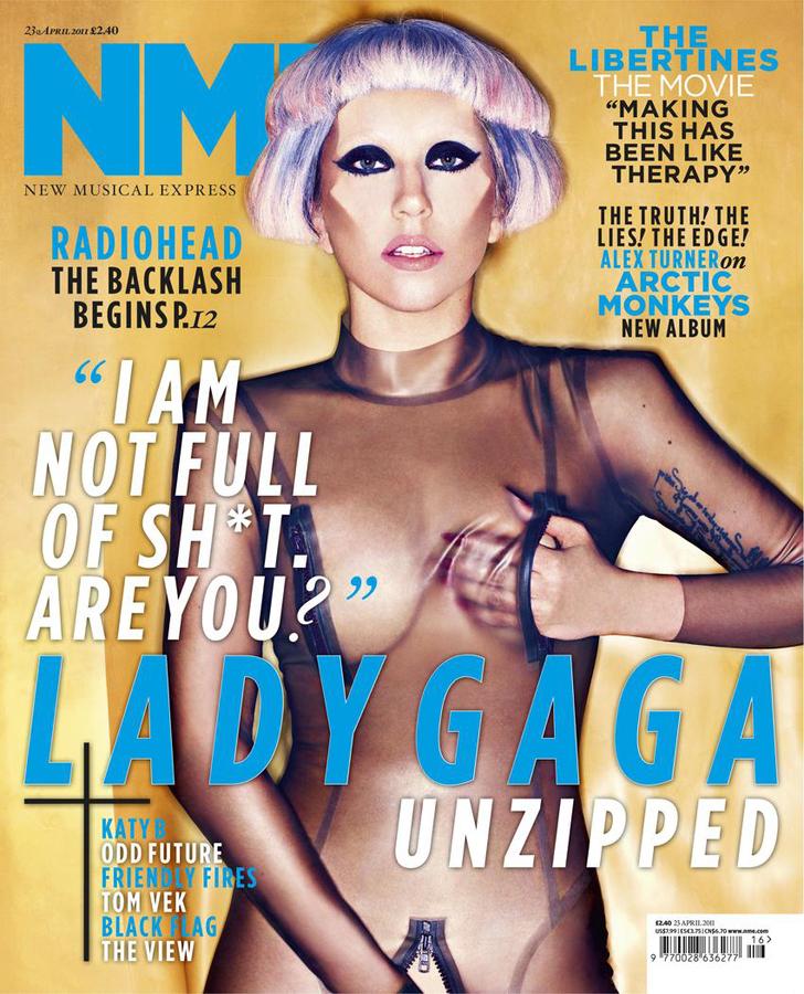 Lady GaGa в журнале NME. Апрель 2011