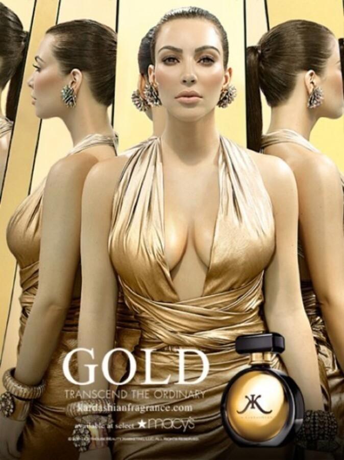 Ким Кардашиан в рекламе аромата Kim Kardashian Gold