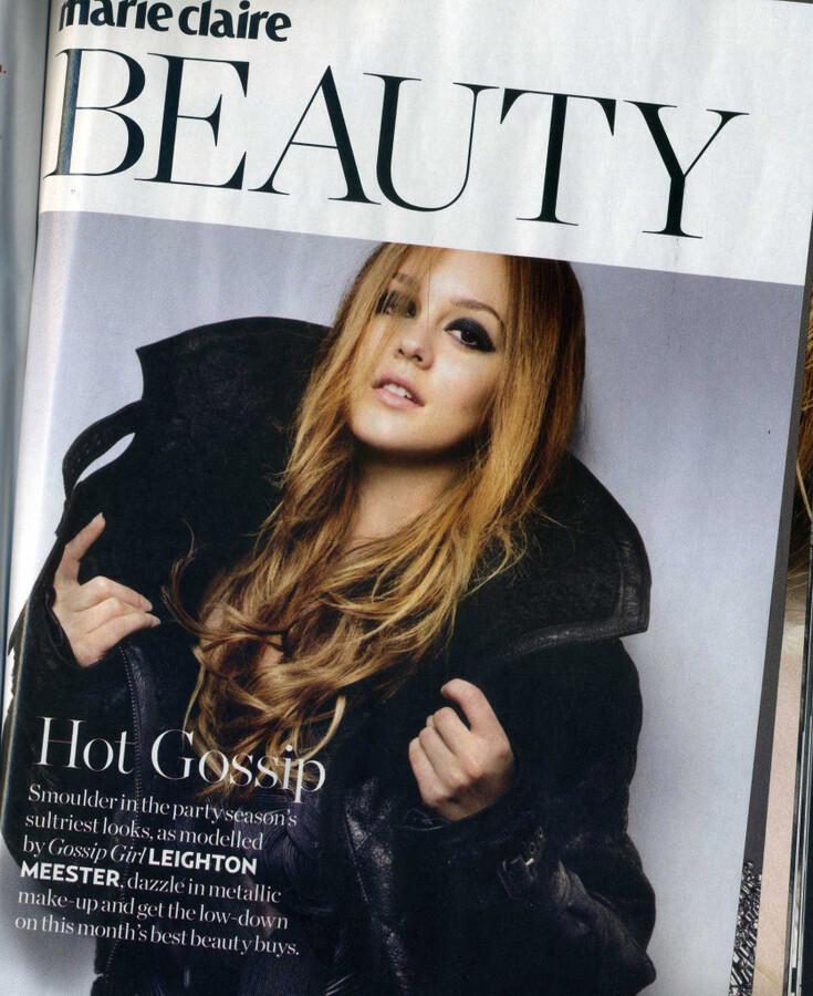 Лейтон Мистер в журнале Marie Claire UK. Декабрь 2010 (скан)