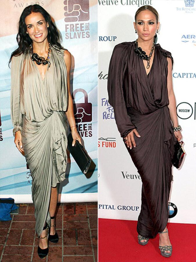 Fashion battle: Деми Мур и Дженнифер Лопес