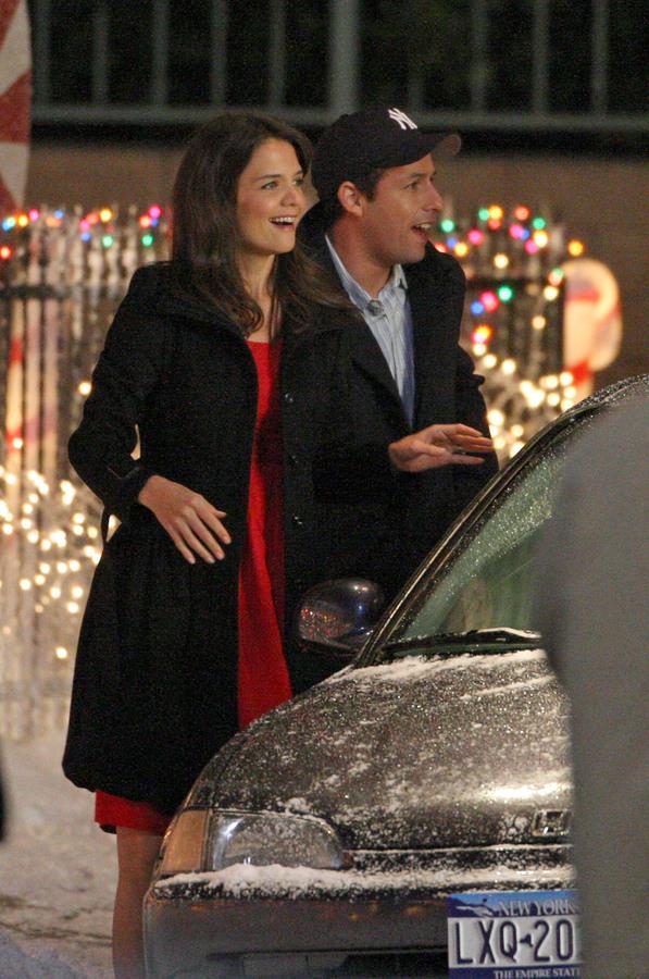 """Кэти Холмс и Адам Сэндлер на съемках фильма """"Джек и Джилл"""""""