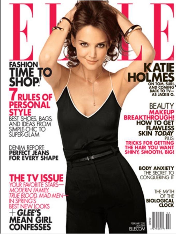 Кэти Холмс в журнале Elle US. Февраль 2011
