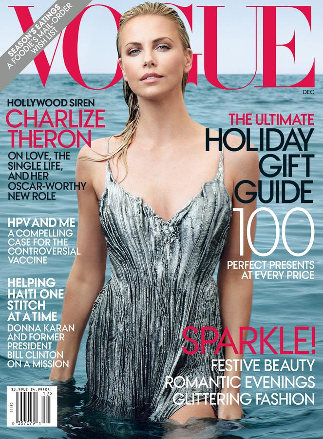 Шарлиз Терон в журнале Vogue US. Декабрь 2011