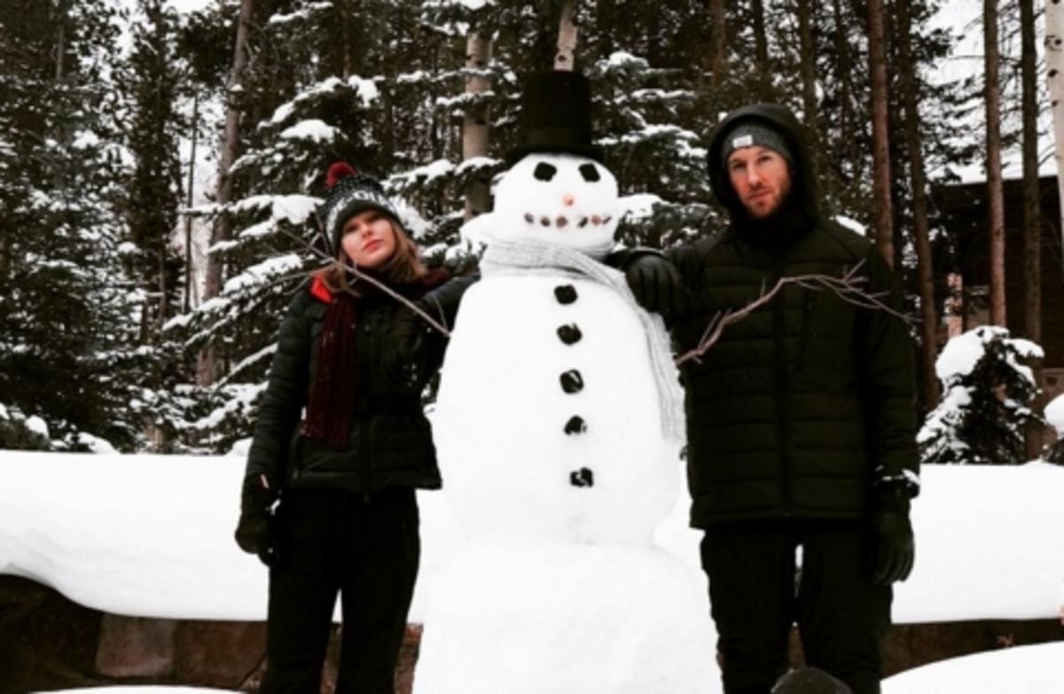 Тейлор Свифт и Келвин Харрис поделились новогодним настроением