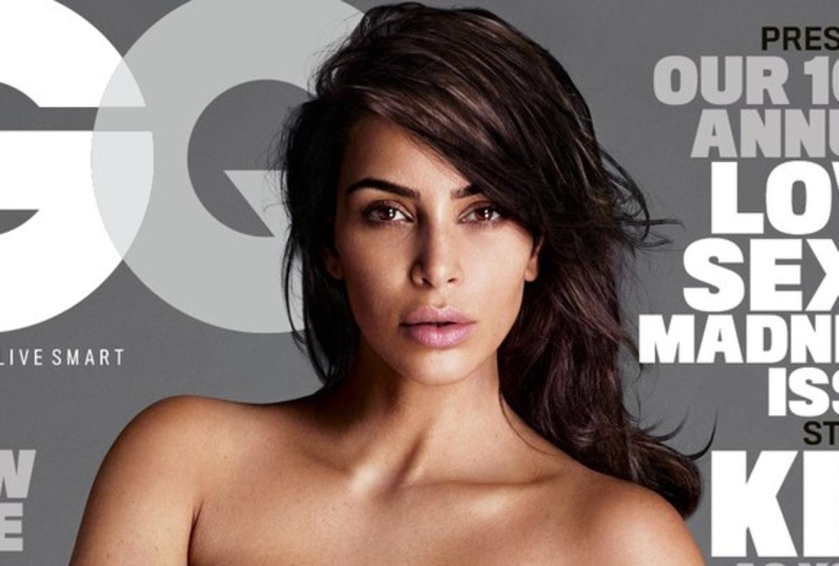 Фото: голая Ким Кардашьян на обложке мужского журнала GQ