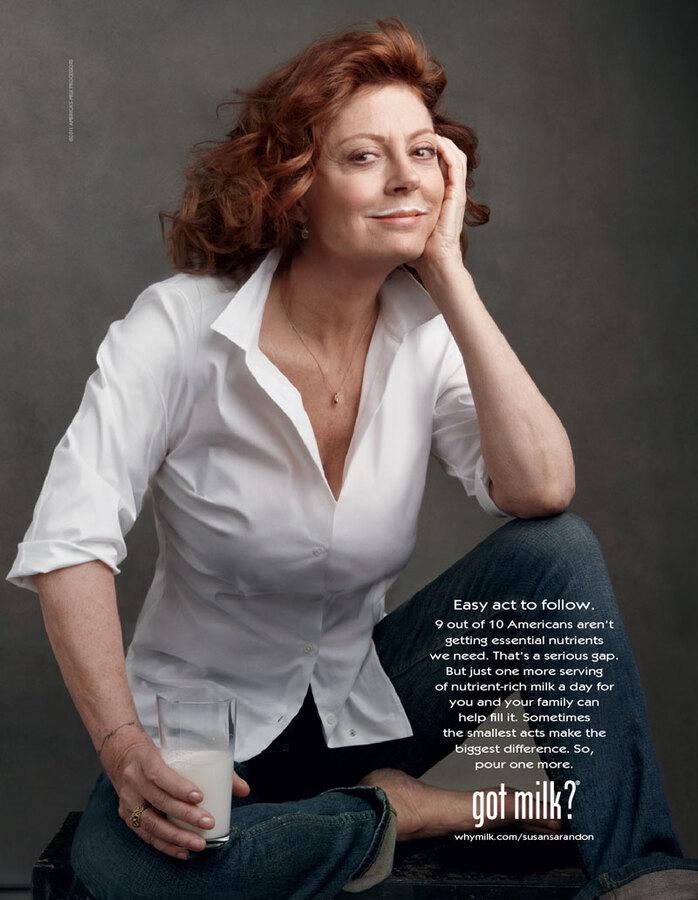 Сьюзан Сэрэндон в рекламе Got Milk?