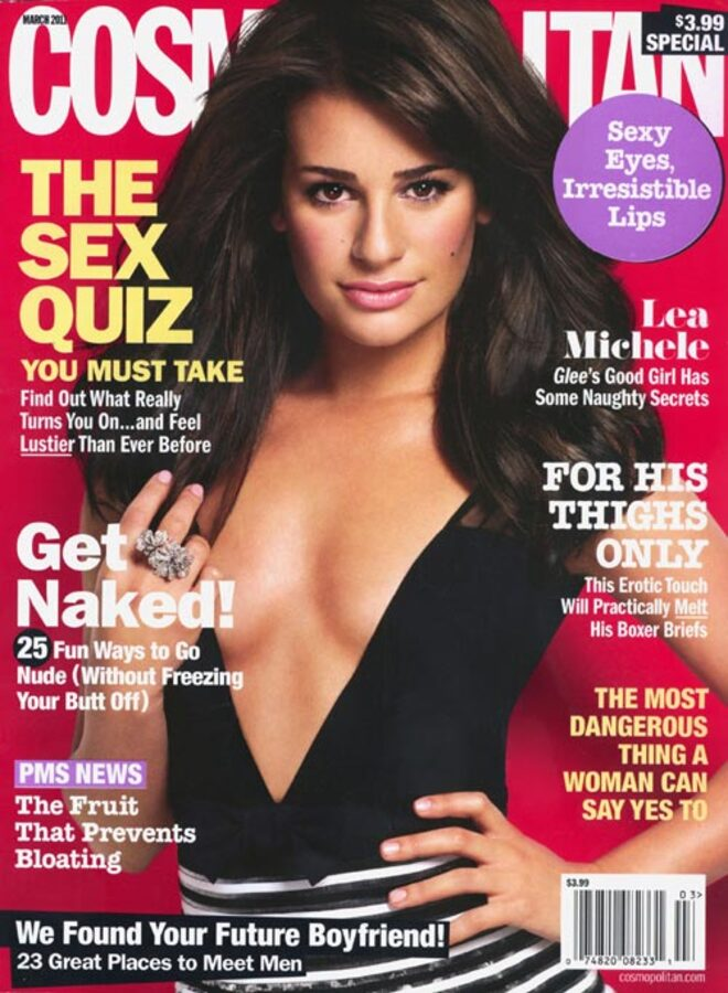 Лиа Мишель на обложке журнала Cosmopolitan. Март 2011