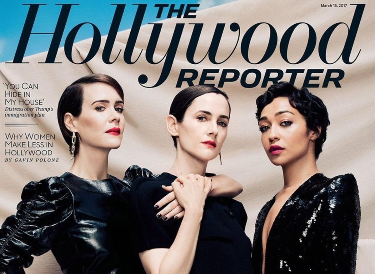 Сара Полсон и Рут Негга в фотосете для The Hollywood Reporter