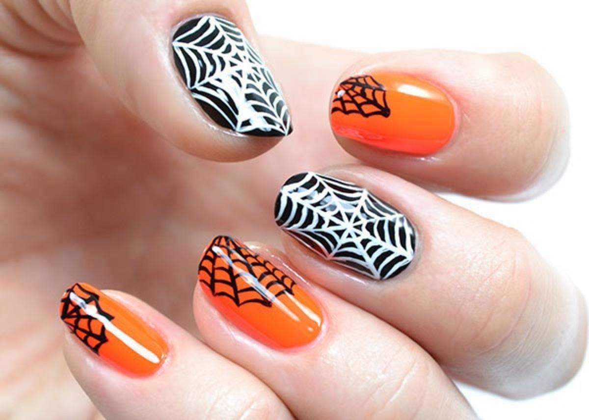 Фото: идеи рисунков на ногтях на Хэллоуин 2015