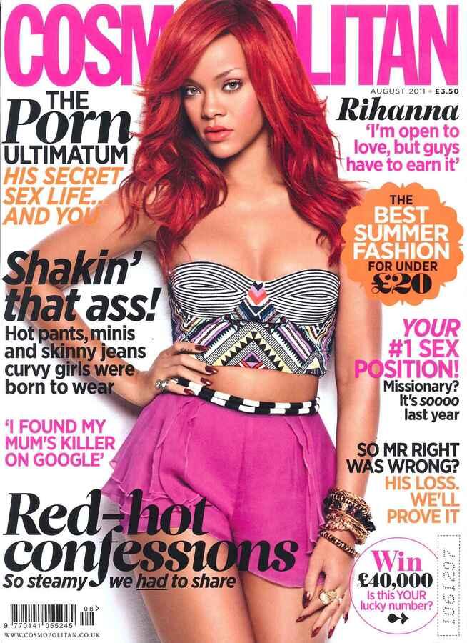 Рианна в журнале Cosmopolitan. Август 2011