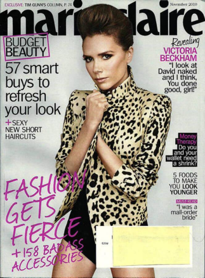 Виктория Бэкхем в журнале Marie Claire. Ноябрь 2010