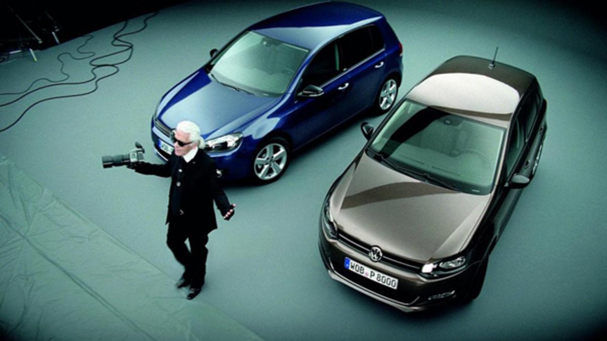 Карл Лагерфельд в рекламе Volkswagen