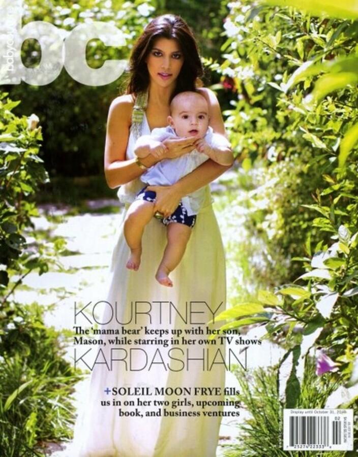 Кортни Кардашиан с ребенком в журнале Baby Couture