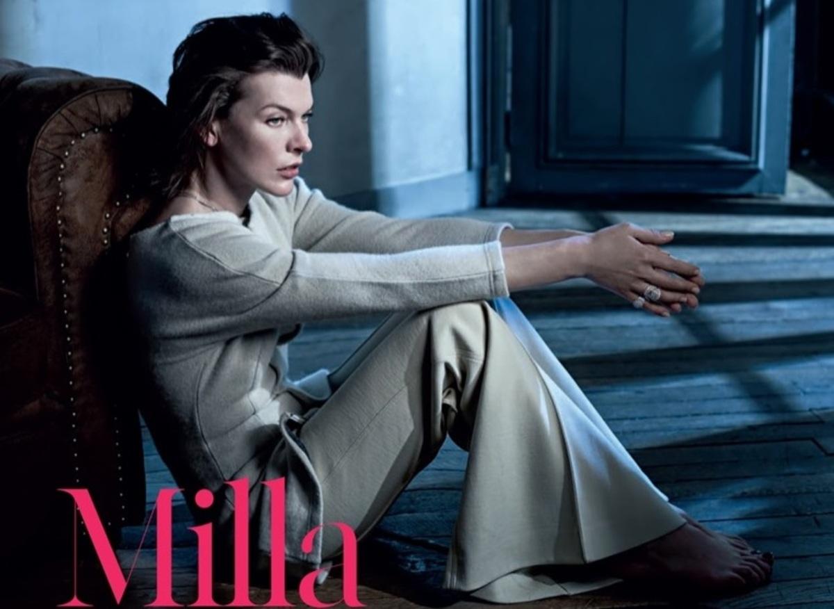 Милла Йовович украсила обложку португальского Vogue (декабрь 2016)